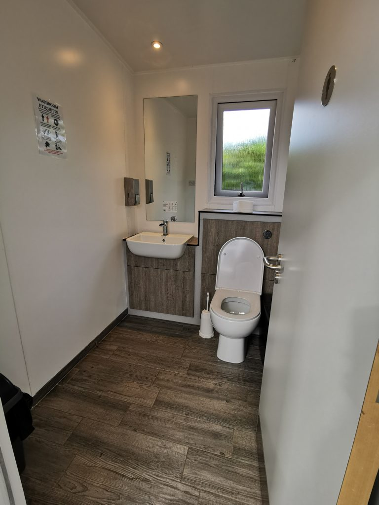 Toilet facility at campsite in Anglesey