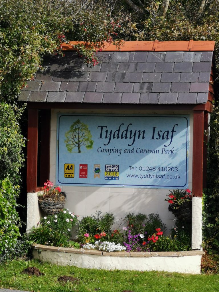 Tyddyn Isaf campsite in Anglesey