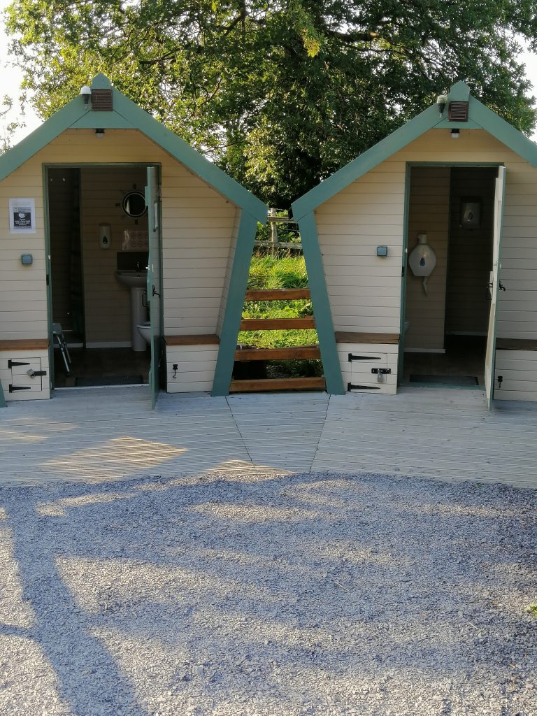 New facilities at the dog friendly campsite
