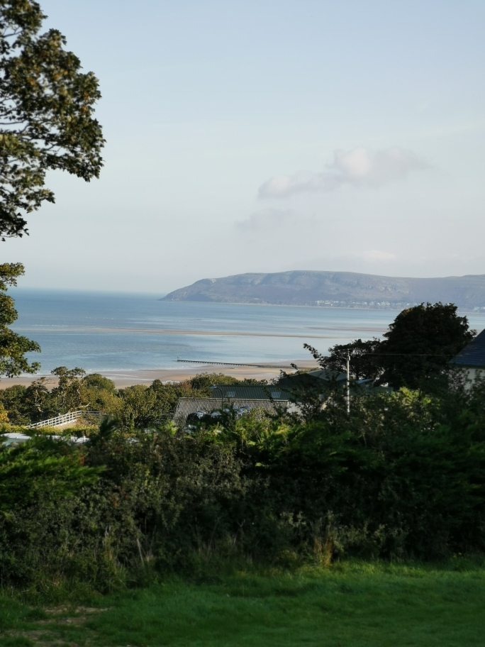 stunning views of Llandudno from our dog friendly campsite