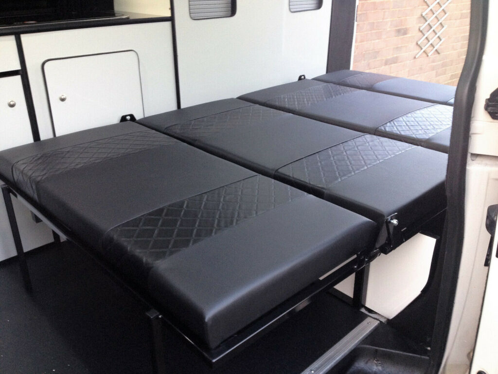 High quality campervan rock and roll bed to convert your van into a camper