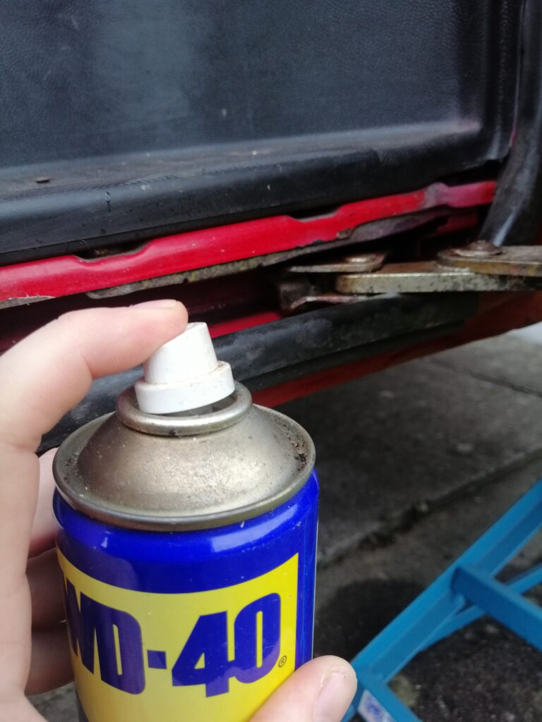 VW T4 service of hinges and moving parts